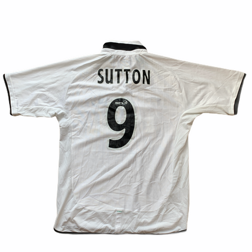 2001 02 CELTIC AWAY FOOTBALL SHIRT #9 SUTTON - L