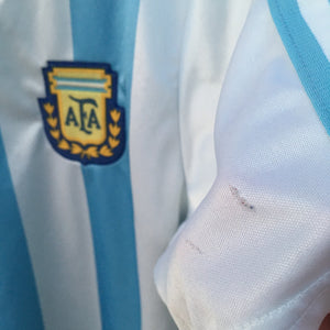 1990 1991 Argentina home Football Shirt - S