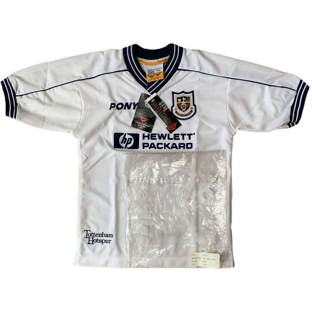 1997 99 TOTTENHAM HOTSPUR HOME FOOTBALL SHIRT *BNIB* - Large Boys