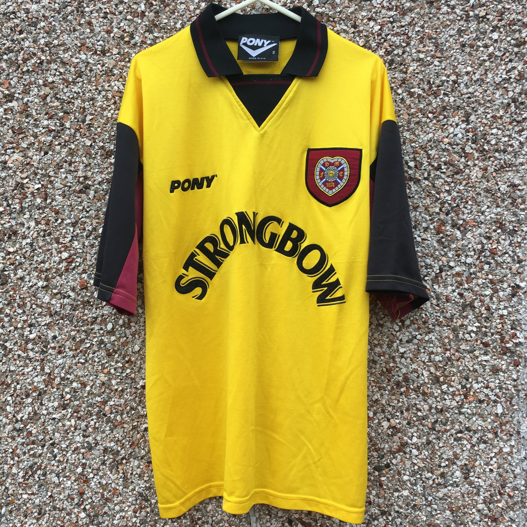 1996 1997 Heart of Midlothian away Football Shirt - S
