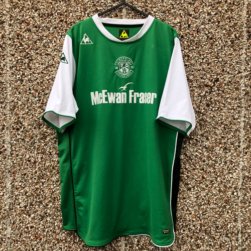 2009 2010 HIBERNIAN HOME FOOTBALL SHIRT - L