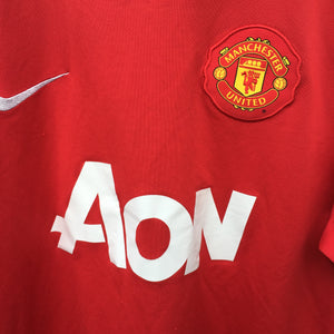 2010 2011 Manchester United home Football Shirt - M
