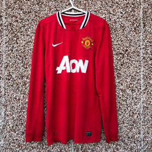 2011 2012 MANCHESTER UNITED L/S HOME FOOTBALL SHIRT - M