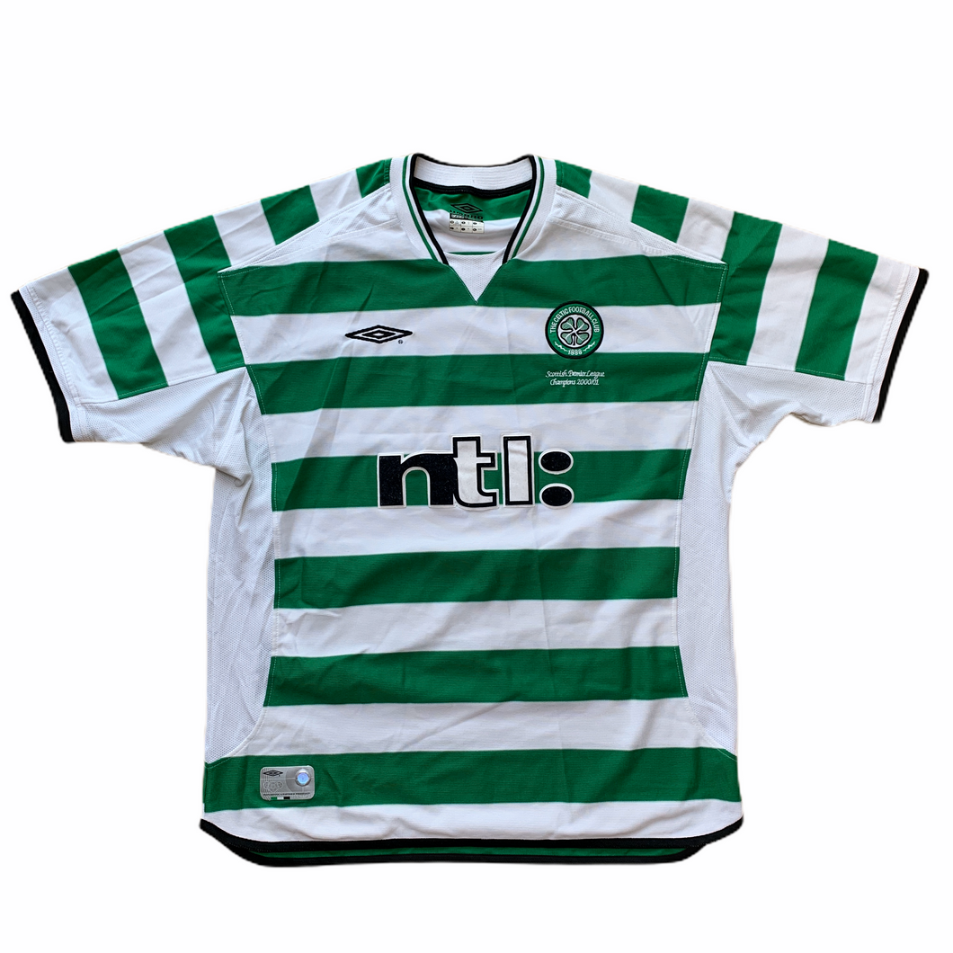 2001 03 CELTIC HOME FOOTBALL SHIRT - XL