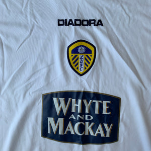 2004 05 LEEDS UNITED HOME FOOTBALL SHIRT - M