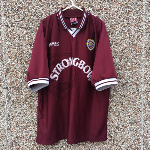 1997 1998 Heart of Midlothian home Football Shirt - L