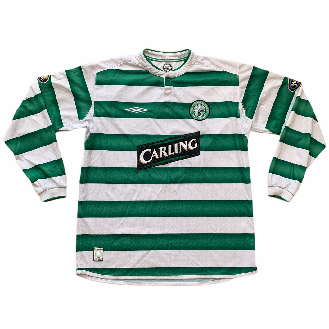 2003 04 CELTIC LS HOME FOOTBALL SHIRT - L