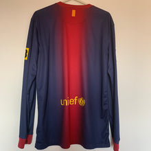 2012 13 BARCELONA L/S HOME FOOTBALL SHIRT - M