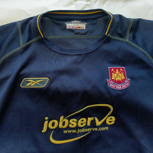 2003 2004 WEST HAM UNITED AWAY FOOTBALL SHIRT - XL
