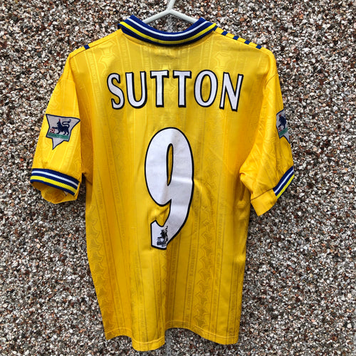1998 1999 Blackburn Rovers away Football Shirt SUTTON #9 - S