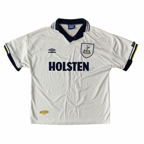 1994 95 TOTTENHAM HOTSPUR HOME FOOTBALL SHIRT - L