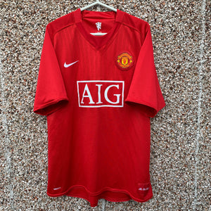 2007 2009 Manchester United Home  Football Shirt - XL