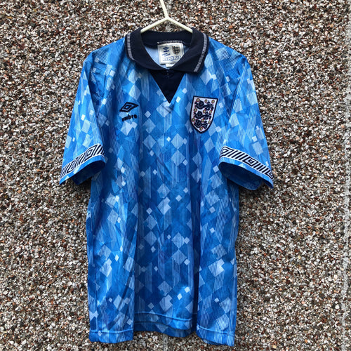1990 1992 ENGLAND THIRD FOOTBALL SHIRT - S