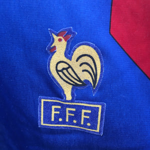1990 1992 France LS home Football Shirt - M
