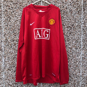 2007 2009 Manchester United LS Home  Football SHirt TEVEZ #32 - XXL