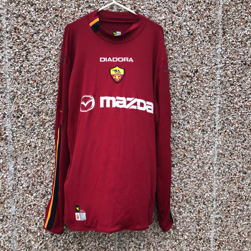 2003 2004 Roma L/S home football shirt - XXL