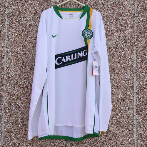 2006 08 Celtic European Cup Long Sleeved Football Shirt *new* - XL