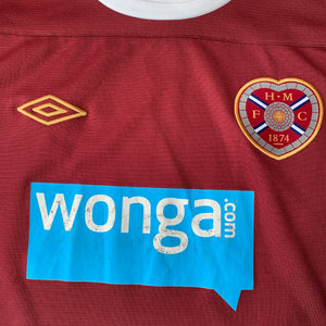 2011 12 HEART OF MIDLOTHIAN HOME FOOTBALL SHIRT - L