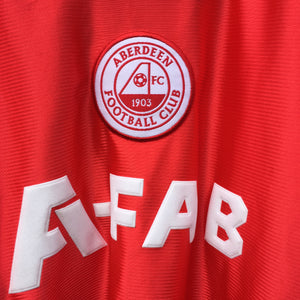 2001 2002 Aberdeen LS Home Football Shirt - S