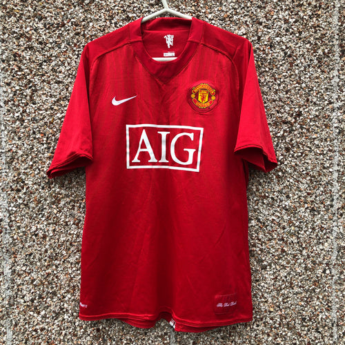 2007 2009 Manchester United Home  Football Shirt - L