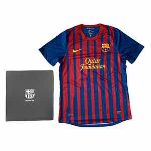 2011 12 BARCELONA PLAYER ISSIE HOME PROMO TEE BOX FOOTBALL SHIRT MESSI #10 - L