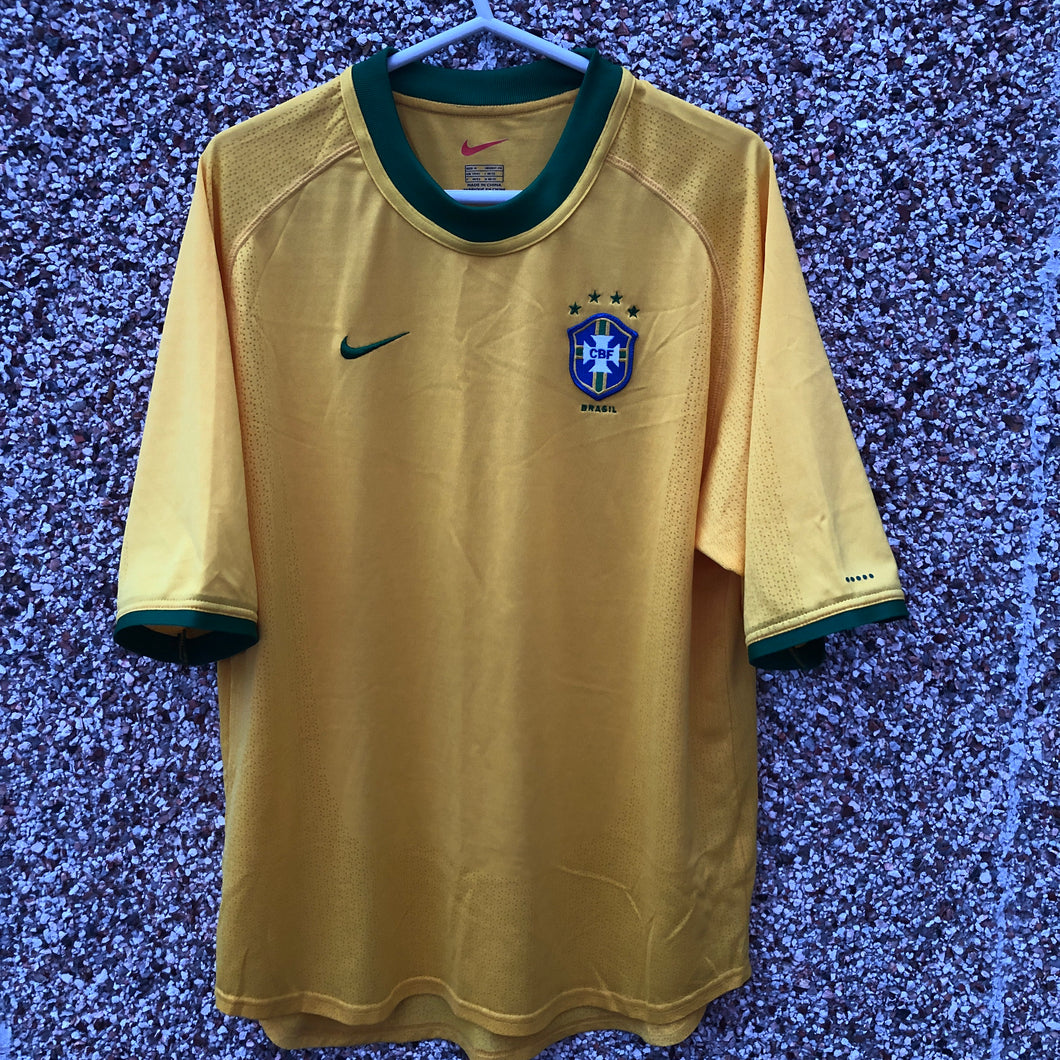 2000 2002 Brazil home football shirt - M