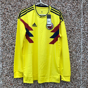 2018 2019 Colombia Long Sleeves Home Football Shirt LS BNIB