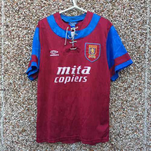 1992 1993 Aston Villa home Football Shirt - M