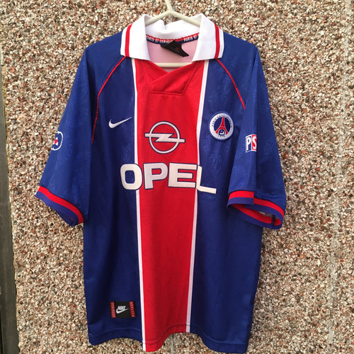 1996 1997 Paris Saint-Germain home Football Shirt - XL