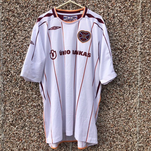 2007 2008 Heart of Midlothian away Football Shirt - XL