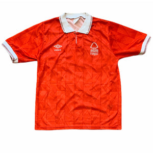 1990 92 NOTTINGHAM FOREST HOME FOOTBALL SHIRT - S