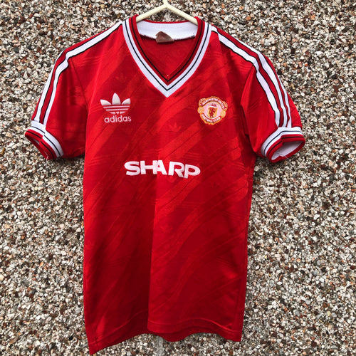 1986 1988 Manchester United home Football Shirt - Youth L