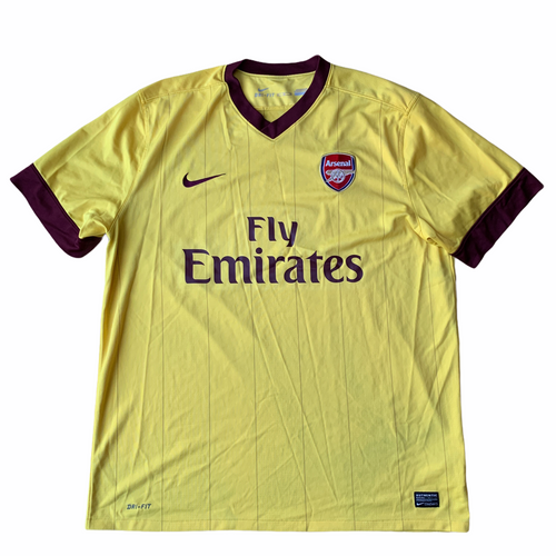 2010 13 ARSENAL AWAY FOOTBALL SHIRT - XL