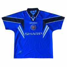 1996 98 MANCHESTER UNITED THIRD FOOTBALL SHIRT - XL