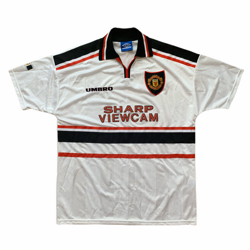 1997 99 MANCHESTER UNITED AWAY FOOTBALL SHIRT - Y