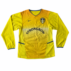 2002 03 LEEDS UNITED L/S AWAY FOOTBALL SHIRT - S
