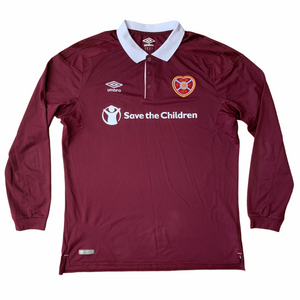 2017 18 HEART OF MIDLOTHIAN LS HOME FOOTBALL SHIRT - XL