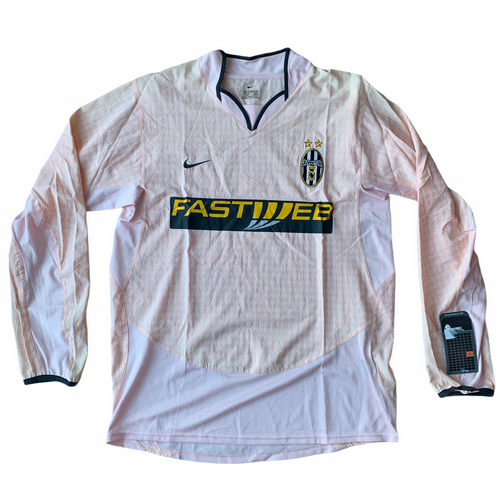 2003 04 JUVENTUS L/S AWAY FOOTBALL SHIRT *BNWT* - M