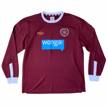 SOLD 2011 12 HEART OF MIDLOTHIAN LS HOME FOOTBALL SHIRT - L