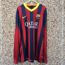 2013 2014 Barcelona Long Sleeves home Football Shirt - L