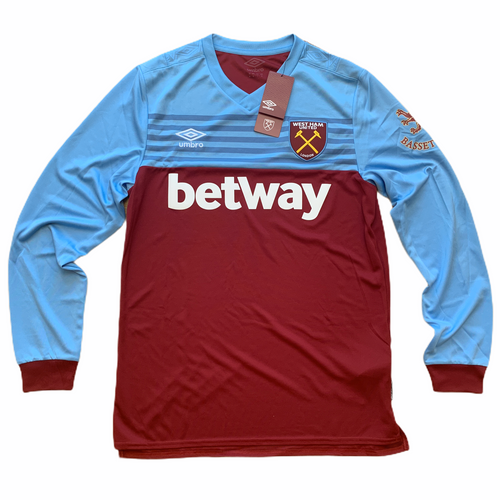 2019-20 WEST HAM UNITED LS HOME FOOTBALL SHIRT *BNWT* - M
