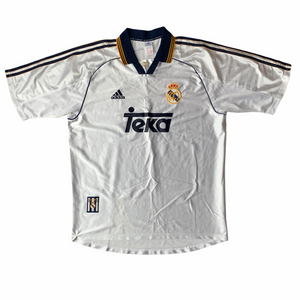 1998 00 REAL MADRID HOME FOOTBALL SHIRT - L