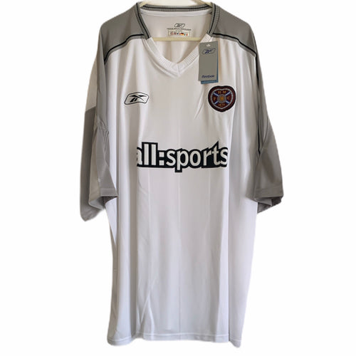 2003 2004 HEART OF MIDLOTHIAN AWAY FOOTBALL SHIRT *BNWT* - XXL