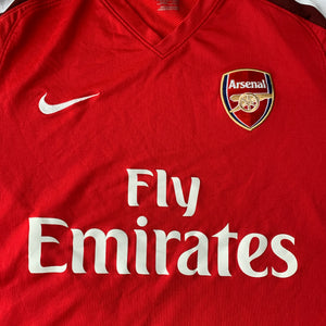 2008 10 ARSENAL HOME FOOTBALL SHIRT - M