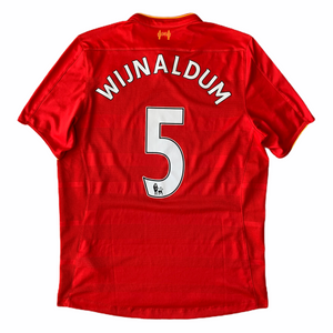 2016 17 LIVERPOOL HOME FOOTBALL SHIRT #5 WIJNALDUM - M