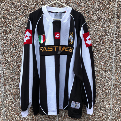 2002 2003 Juventus L/S home football shirt - L