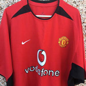 2002 2004 Manchester United home Football Shirt - L