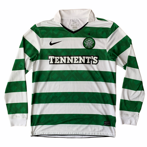 2010 12 CELTIC LS HOME FOOTBALL SHIRT - M