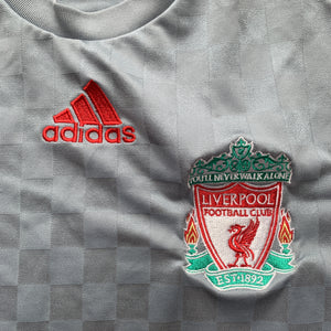 2008 09 LIVERPOOL LS AWAY FOOTBALL SHIRT - S