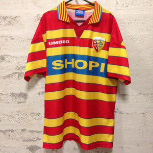 1996 1998 Racing Club De Lens home Football Shirt - L